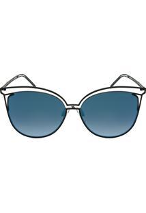 Hickmann Hi3048 - Espelhado - Preto - 09A/58 - Óculos De Sol