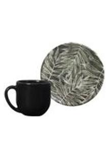 Conjunto C/ 6 Xicaras De Cafe C/ Pires Coup Herbarium 112Ml