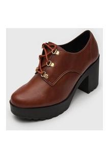Ankle Boot Moleca Tratorada Caramelo
