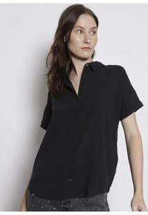 Camisa Lisa Com Botãµes- Pretalevis
