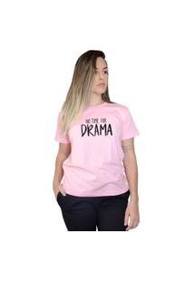 Camiseta Boutique Judith No Time For Drama Rosa