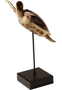 Escultura Decorativa De Resina Tartaruga Marinha
