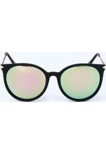 Óculos Feminino De Sol Redondo Espelhado Marisa