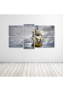 Quadro Decorativo - Sail Ship - Composto De 5 Quadros