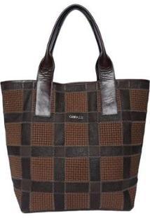 Bolsa Couro Griffazzi Shopping Bag - Feminino-Marrom