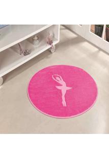 Tapete Formato Feltro Antiderrapante Bailarina Pink