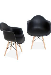 Kit 02 Cadeiras Decorativas Lyam Decor Melbourne Preto. - Tricae