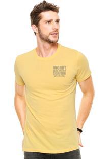 Camiseta Malwee Worry Less Amarela
