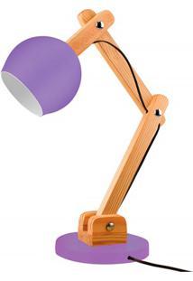 Luminária De Mesa Para 1 Lâmpada Bivolt Bola Ultra Violet