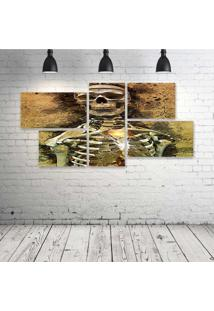 Quadro Decorativo - Skull462 - Composto De 5 Quadros - Multicolorido - Dafiti