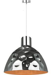 Pendente Lux - Prateado- 138Xø35Cm- Bivolt- Premier