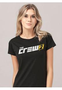 Camiseta Bandup! The Crew 2 Logo - Feminino-Preto