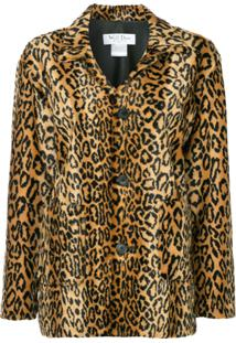 We11Done Jaqueta Midi Com Estampa Leopardo - Marrom