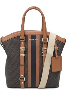 Bolsa Michael Kors Bedford Travel Lg Dome Marrom