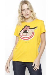 """Camiseta """"Verão"""" - Amarela & Vermelha - Colccicolcci"""