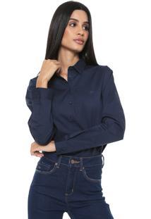 Camisa Colcci Angélica Azul-Marinho