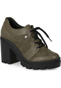 Sapato Oxford Feminino Quiz Recortes Verde