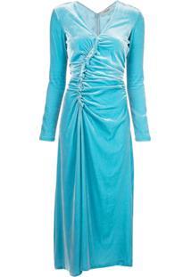 Rachel Comey Vestido De Veludo - Azul