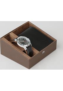 Kit De Relógio Analógico Mondaine Masculino + Carteira - 99373G0Mvnh1K Prateado - Único