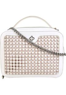 Bolsa Couro Capodarte Mini Bag Atanado Feminina - Feminino-Off White
