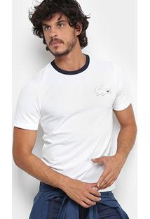 7353ce7adfe ... Camiseta Lacoste Live Com Logo Masculina - Masculino-Branco