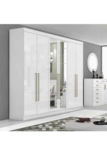 Guarda-Roupa 6 Portas Castellaro Com Espelho - Lopas