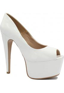 Sapato Zariff Shoes Peep Toe Salto Fino