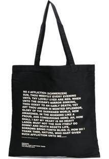 Rick Owens Drkshdw Large Affliction Tote Bag - Preto