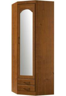 Guarda Roupa Finestra 1063T 1 Porta C/Espelho De Canto Parma Imbuia
