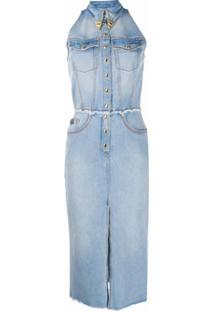 Versace Jeans Couture Vestido Jeans Slim - Azul