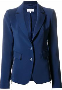 Patrizia Pepe Blazer Com Abotoamento Simples - Azul