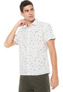 Camisa Colcci Reta Estampada Off-White