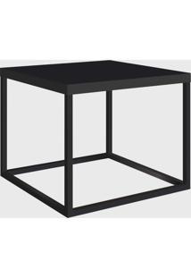 Mesa Quadrada Cube P Preto/Preto Artesano - Preto - Dafiti