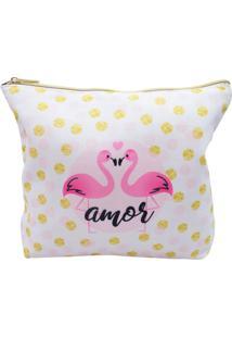Necessaire Minas De Presentes Flamingo Rosa - Kanui