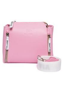 Bolsa Feminina Transversal Pequena Via Livre Rosa