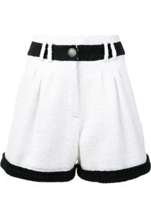 Balmain Short De Tweed - Branco