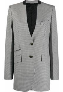 Givenchy Blazer Com Estampa Pied-De-Poule - Preto