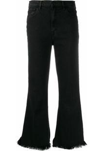J Brand Calça Jeans Flare Desgastada - Preto