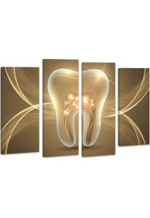 Quadro Oppen House 70X100Cm Decorativo Dente Odonto Clínica Dentista Decorativo Interires