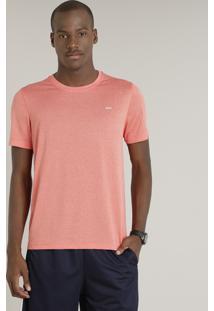 Camiseta Masculina Esportiva Ace Manga Curta Gola Redonda Laranja