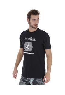 Camiseta Volcom Silk Id - Masculina - Preto