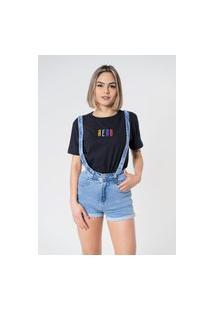 T-Shirt Aero Jeans Colors Preta