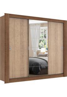 Guarda-Roupa Campos Rustic/Saara 3 Portas 1 Espelho Madesa