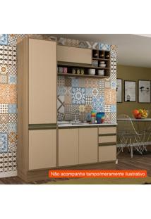 Cozinha Compacta Safira 5 Pt 3 Gv Capuccino E Avelã