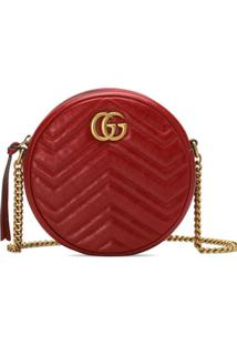 Gucci Bolsa Tiracolo Gg Marmont Mini - Vermelho