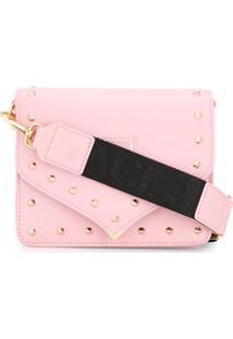 Versace Jeans Couture Clutch Envelope Com Tachas - Rosa