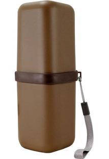 Porta Escova De Dentes- Marrom- 20,5X7,5X7,5Cm- Jacki Design