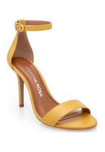 Sandalia Salto Alto Lisa Amarelo