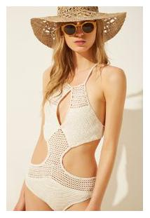 Maiô Crochet Off White - M