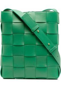 Bottega Veneta Bolsa Tiracolo Com Trama Intrecciato - Verde